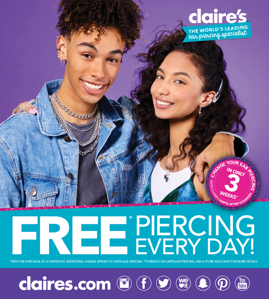 Claire's Piercing Deal